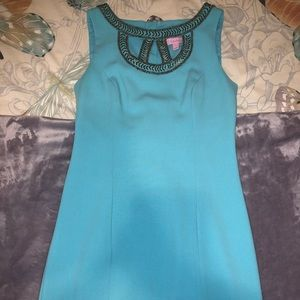 Lilly Pulitzer Geometric Cutout Shift Dress